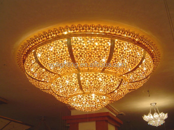 Arabic crystal droplight ceiling lamp villa decorative light VOL