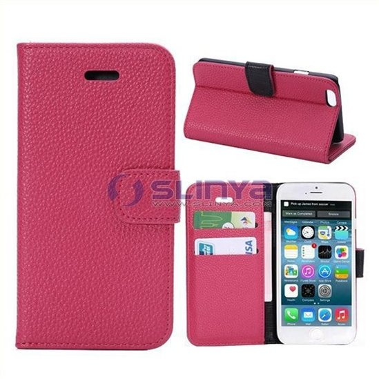 Stand Credit Card Wallet PU Leather Case For iPhone 6 Plus