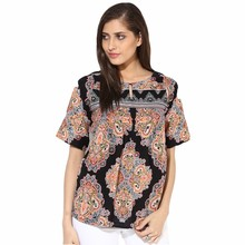 elegant blouse long sleeve ladies design batik women tops factory manufacture