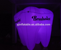 Best quality lighting advertising inflatable tooth