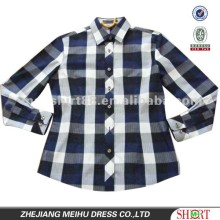 Ladies slim fit 100% cotton check shirt
