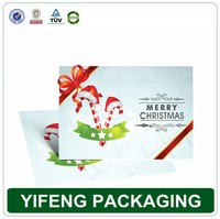Guangzhou professional customize full color printing christmas card