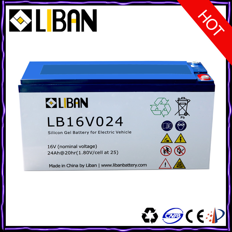 16V 24Ah Lead Acid Battery For Bike