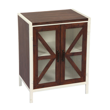 Accent Style Home Furniture Brown Color MDF Wood Living Room Cabinet