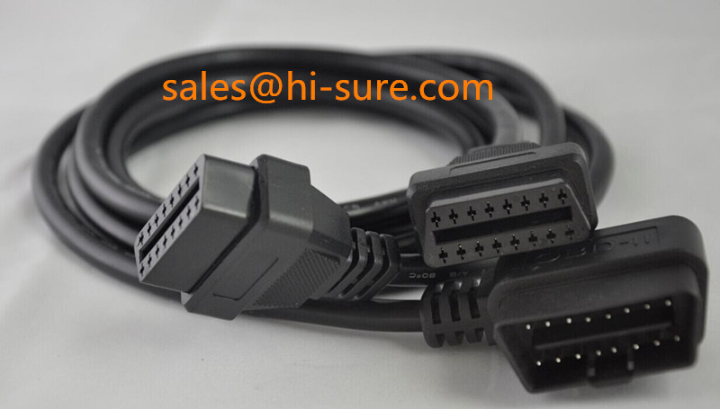 wire harness 16pin obd cable male to female Cable for obd ii tools