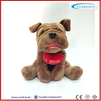 decorative barking dog electronic toy dog talking stuffed animals