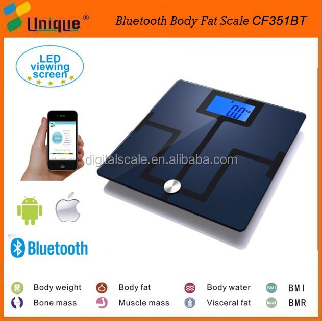 Health Smart Scale with Extra Large LCD Display Step on and Auto off with Firm Plastic Base