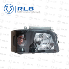 black Reconfigure crystal head lamp for hiace 2005 model