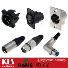 XLR female Connector panel mount 3 4 5 pin UL CE ROHS KLS1-XLR-S08 4 pin male xlr connector