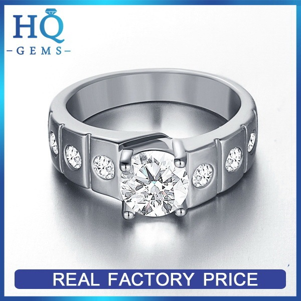 Oem most popular white gold rings cu rings jewellery