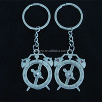 metal unique cute couple keychain for promotional gift
