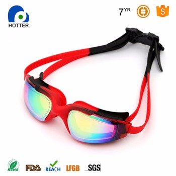 Hot Selling Swimming glasses Goggles No Leaking Anti Fog Goggle UV Proof Silicone Frame Wide vision for Adult
