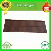 top grade natural color sand coated steel roof tile