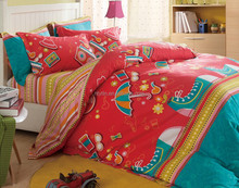 lovely colorful umbrella and shoes print twin size twill cotton modern wholesale beds china bedroom sets