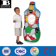 Promotional custom inflatable baseball target toss game portable American football player throwing game