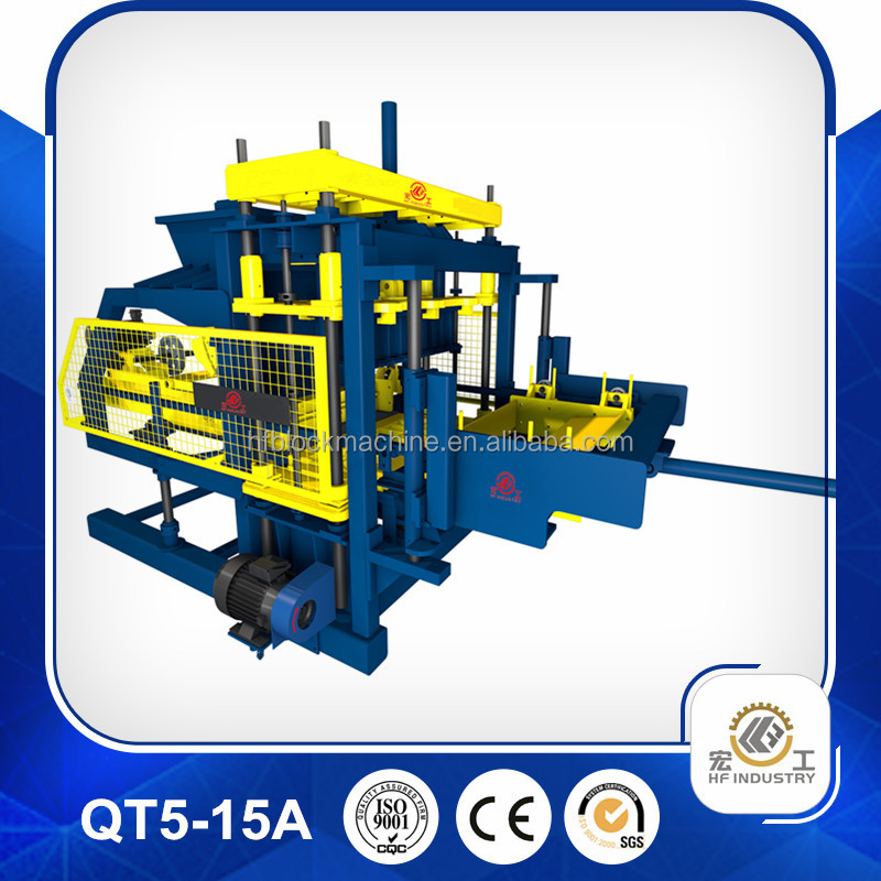 Hot sale!HF QT5-15 hydraulic paver block making machine price in India,Algeria.engineer available overseas