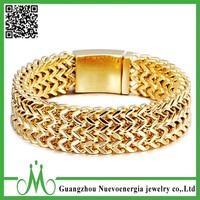 Alibaba hot selling gold stainless steel bracelet for mens gift bracelet