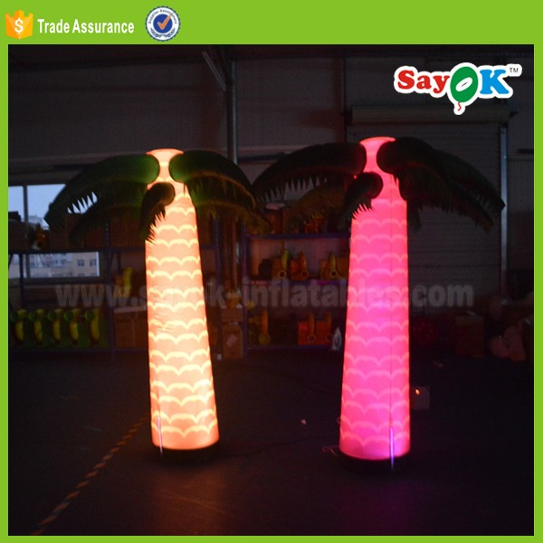 outdoor giant led inflatable christmas palm tree stand light decoration