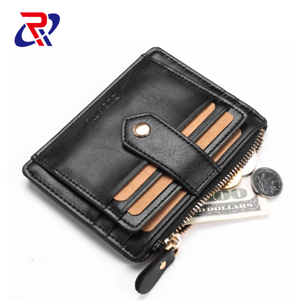 WOMEN Money Clip wax Leather <strong>wallet</strong>