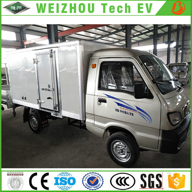 Chinese hot sale 1.4m Cab Width Standard EEC Electric Cargo Truck for Express and Food Delivery with Range Extender Price