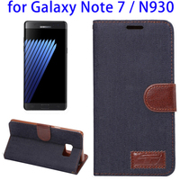 Alibaba Best Selling Plating Horizontal Flip Leather Case for Samsung Galaxy Note 7, Mobile Phone Case for Samsung N930