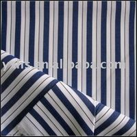 100% Cotton Blue and White Stripe Fabric