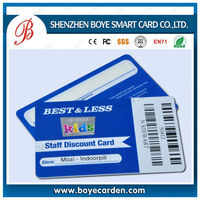 Plastic Thermal Printing Barcode Card With