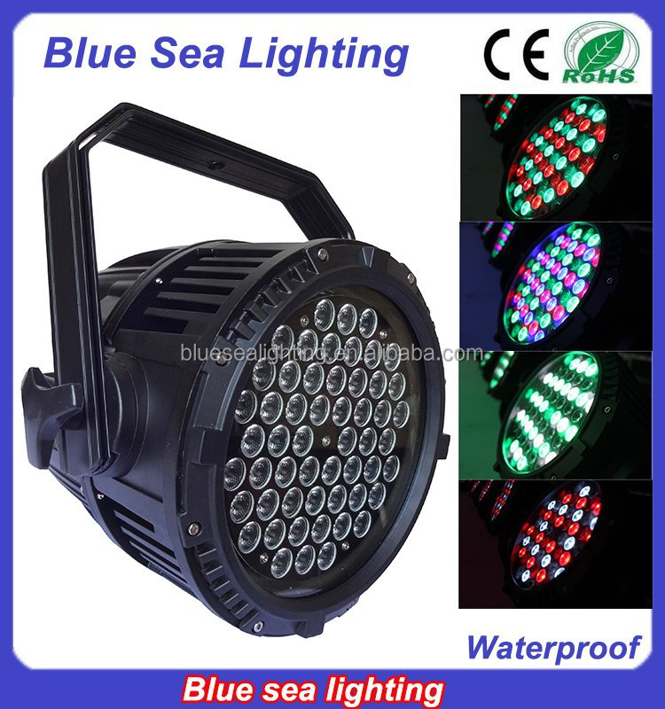 54pcs x 3w stage light disco equipment IP65 par64 led lighting lamp