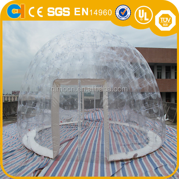 "2016 19'8"" inflatable air closure clear dome tent inflatable transparent tent inflatable bubble camping tent"