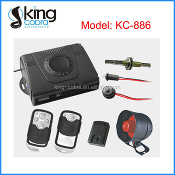 Full Function Car Security System with Different Types of Remote Available