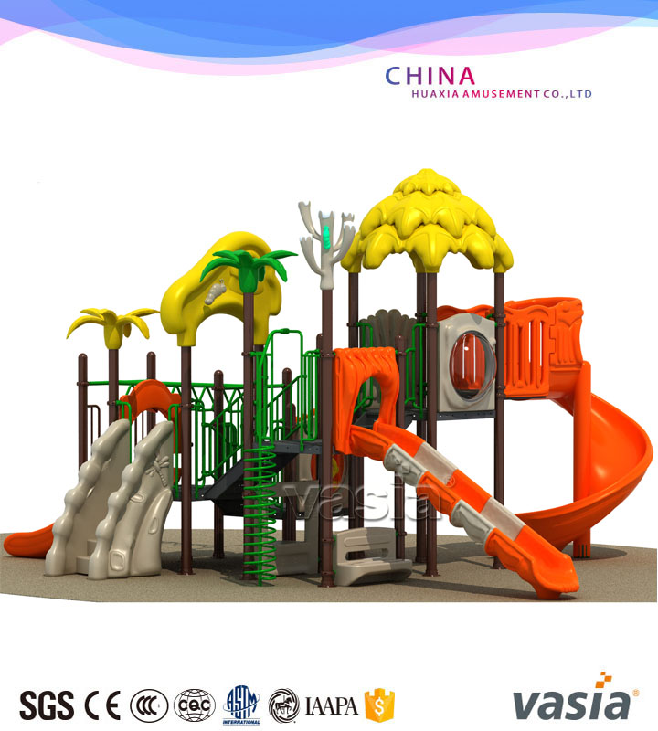 VASIA hot sale play structure/plastic playground/outdoor slide,kindergarten commercial outside playground equipment
