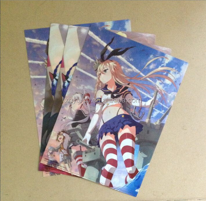 High quality promotion plastic custom clear file