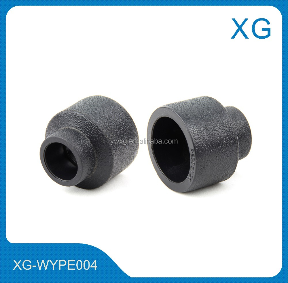 cheap price hdpe reducing coupling/hdpe pipe fittings reducer socket/plastic drainage pe pipe fittings
