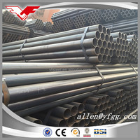 Black Painted or Oiled Welded ERW MS Steel Pipes