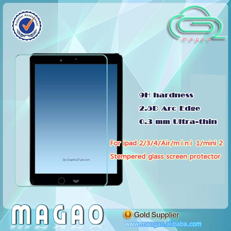 for ipad 2 3 4 new for ipad Premium Tempered Glass screen protector Series with retail package