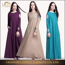 Dubai long sleeves maxi dresses wholesale muslim abaya beautiful kaftan 2017 design