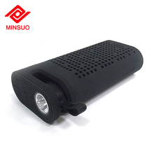 Three in one 4400mAh TF card hands free led light bluetooth speaker with power bank