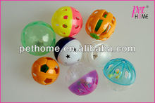 Plastic Bell Ball Toy for Pets Dogs and Cats (Assorted Colors)
