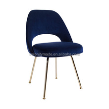 high quality china furniture metal legs blue pink velvet dining room chairs