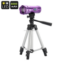 LED Fishing Flashlight - 200 Lumen, LCD Display, Tripod, 6000mAh Battery