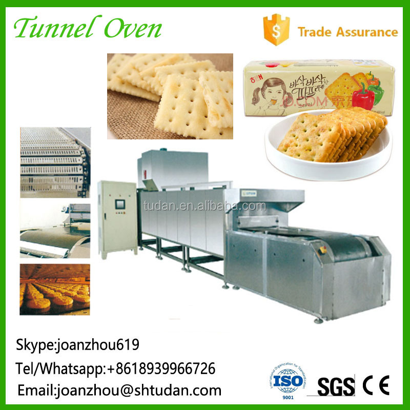High efficiency gas industrial commercial production line cookies tunnel oven used factory business