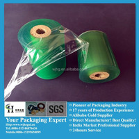 Green Transparent Plastic pvc stretch cable wrap film for wire coils