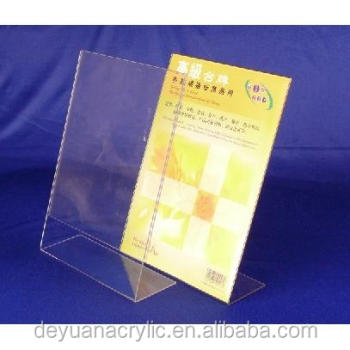 Hot custom clear acrylic label holders acrylic sign holder acrylic menu holder
