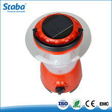 Zhongshan 3W red portable solar powered outdoor camping lantern lighting