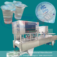 best service filling plastic cup heat tray automatic cup sealing machine