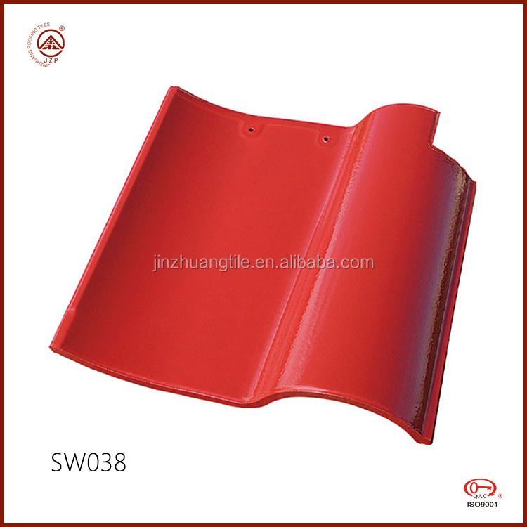 Ceramic Coated Spanish Red Clay Roof Tiles