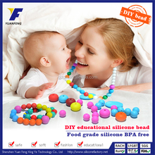 Food-safe Mom Nursing Chewable Jewelry Silicone Baby Teething DIY Necklace Wholesale