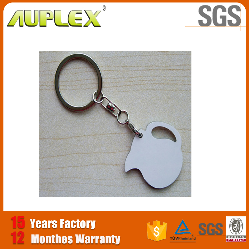 Blank heart Shape Sublimation Good Quality Custom MDF Key Chain