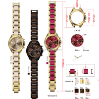 Coloful Cheap Waterproof Fashion Steel Watch,Wholesale Promotional Steel Assorted Colors Available Woman Hand Watch Math