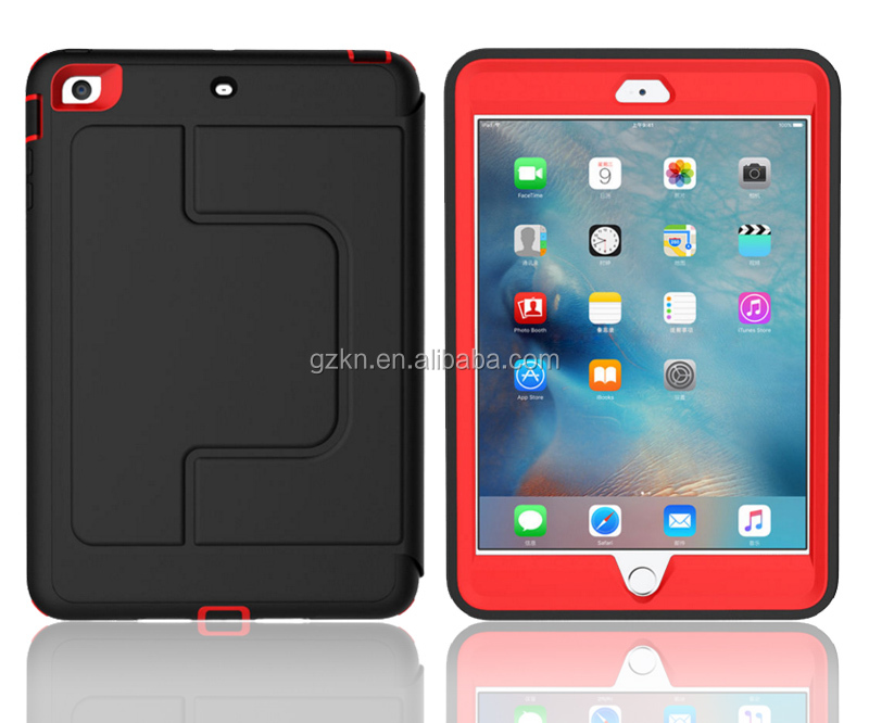 2016 new PU leather sleep wake up function defender book cover case for iPad mini 2/3 with rotated stand
